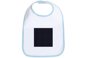 Black White Polka Dots Vintage Bib by CafePress