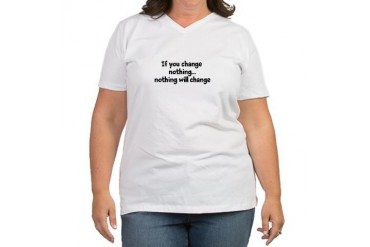 Change Spiritual Women's Plus Size V-Neck T-Shirt by CafePress