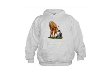 Mini Horse and Cat Kids Hoodie