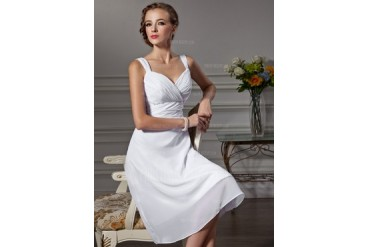Empire Sweetheart Knee-Length Chiffon Bridesmaid Dress With Ruffle (007020621)