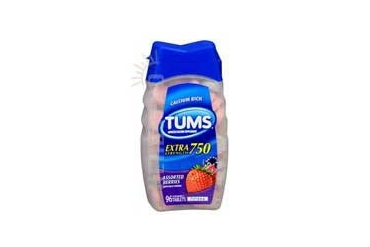 Tums Extra Strength Antacid Calcium Supplement Assorted Berries 96 tabs