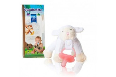 CuddlesMe Plush Sheep Toy w Detachable Pacifier Holder Baby Animal Soft