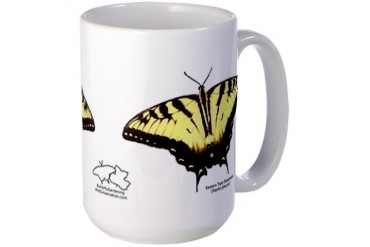 Tiger Swallowtail Butterfly Mug large Photography Large Mug by CafePress