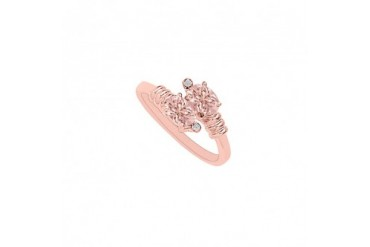 Morganite and Diamonds Lovely Designer Engagement Ring