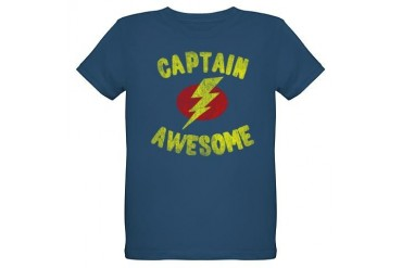Captain Awesome Organic Kids T-Shirt (dark)