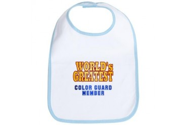 World's Greatest Color Guard Member Marching band Bib by CafePress