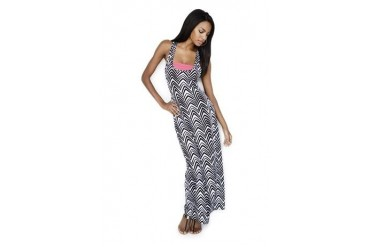 Bandeau racerback maxi dress