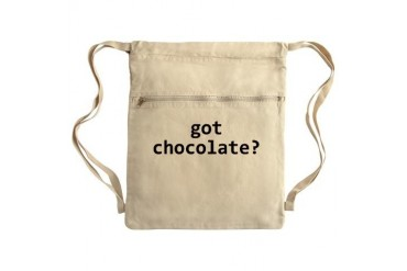 Got chocolate? Sack Pack Funny Cinch Sack by CafePress