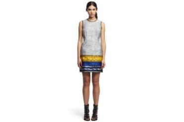 Klein Cotton Patterned Shift Dress