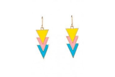 Fox's Accessories Rave Yellow Triangle Shape Charm Earrings