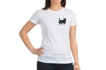 Scottish Terrier Attitude Pets Jr. Jersey T-Shirt by CafePress
