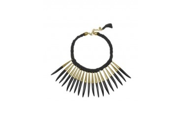 Noli Leather and Metal Necklace