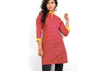 Pleasing Magenta Printed Kurti