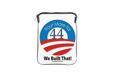 4 More for 44 VICTORY Obama iPad Sleeve by CafePress