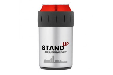 Stand UP for Righteousness Thermos Can Cooler Religion Thermosreg; Can Cooler by CafePress