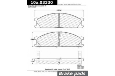 1987-1992 Nissan Pathfinder Brake Pad Set Centric Nissan Brake Pad Set 102.03330 87 88 89 90 91 92
