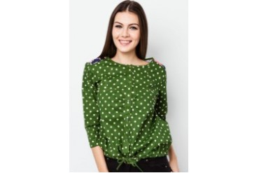 VnJ Oversized Polka Dot Floral Top