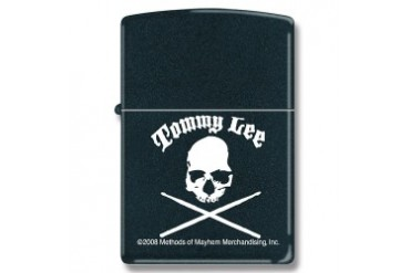 "Zippo ""Tommy Lee"" Lighter with Black Matte Finish"