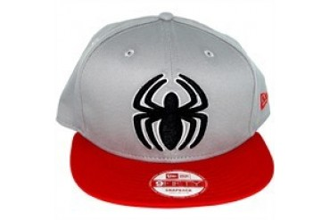 Marvel Comics Amazing Spider-Man Classic Logo Gray 9FIFTY Snapback Embroidered Hat