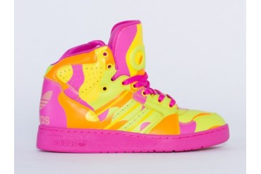 Adidas Originals X Jeremy Scott Instinct Hi in Neon Camo size 10.0