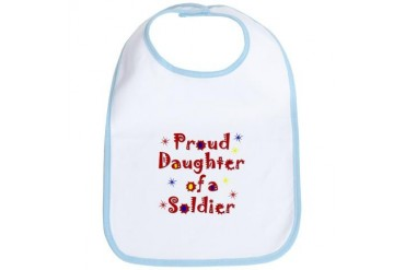 Proud Daughter Colorful Military Bib by CafePress