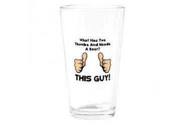 This Guy Beer Drinking Glass