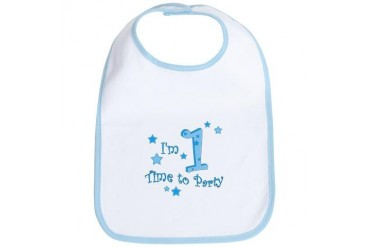 First / 1st birthday baby boy Cute Bib by CafePress