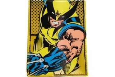 Marvel Comics X-Men Wolverine Comic Name Fat Free Polymer Bi-Fold Wallet