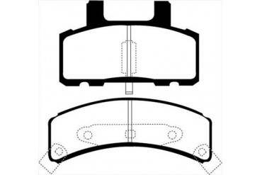 EBC Brakes Yellowstuff Street And Track Brake Pads DP41273R Disc Brake Pads