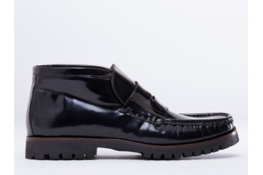 Kenzo Trey Mens in Black Leather size 8.0
