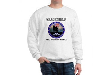 National Guard Brother Hero FB Military Sweatshirt by CafePress