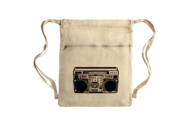 BOOM BOX OLD SCHOOL Sack Pack Art Cinch Sack by CafePress