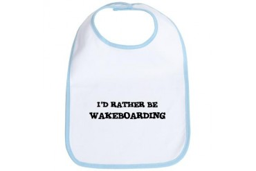 Rather be Wakeboarding Love Bib by CafePress