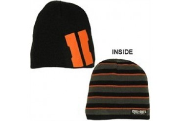 Call of Duty Black Ops 2 Reversible Logo Stripes Printed Embroidered Beanie