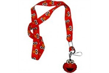 Sesame Street Elmo Eyes and Nose Only Face Charm Lanyard