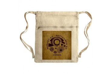 Vintage Virgo Sack Pack Vintage Cinch Sack by CafePress
