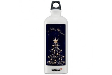 Blue Golden Christmas Holiday Sigg Water Bottle 1.0L by CafePress