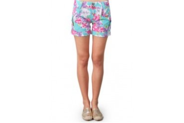 Miss Me Blue Tosca Hot Pant Harem Print Flower With 2 Button