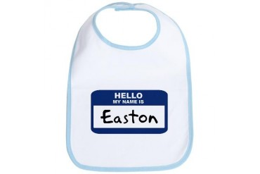 Hello: Easton Name Bib by CafePress