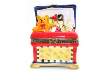 Toy Soldier Chest Teddy Bear Clown Trinket Box phb