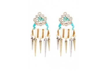 Something Borrowed Spike And Stones Stud Earrings