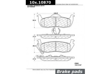 2005-2010 Jeep Grand Cherokee Brake Pad Set Centric Jeep Brake Pad Set 106.10870 05 06 07 08 09 10