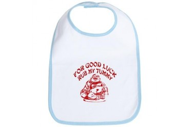 Good Luck Buddha Funny Bib by CafePress