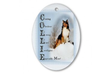 Rough Collie Gifts Cool Oval Ornament by CafePress
