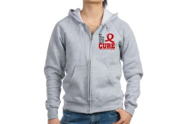 AIDS Fight For A Cure Cancer Women's Zip Hoodie by CafePress