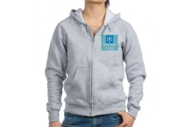 Winter Park Snowflake Colorado Women's Zip Hoodie by CafePress
