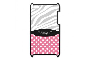 Pink Polka Dot Faded Zebra Print personalized Ito