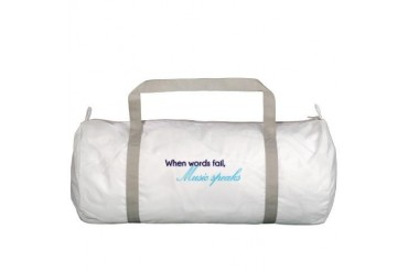 When words fail Music Gym Bag by CafePress