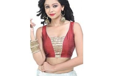 Trendy Maroon Readymade Designer Blouse