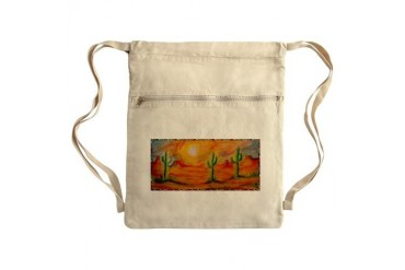 Desert, scenic southwest landscape Sack Pack Art Cinch Sack by CafePress